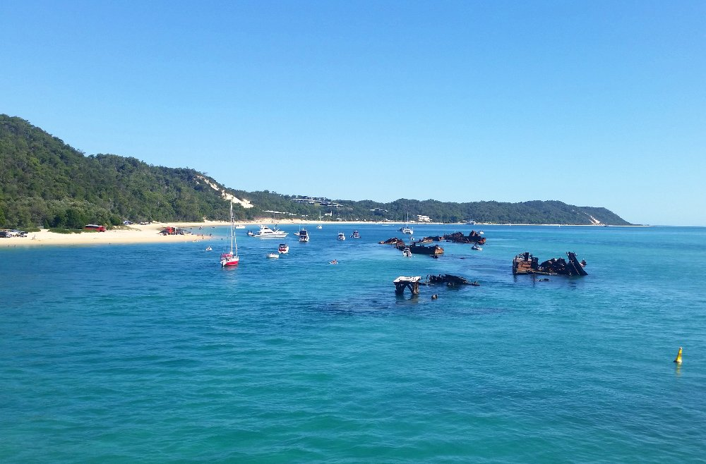| The Best Things to Do in Queensland Australia featured by top international travel blogger, Tracy's Travels in Time: the sea off Moreton Island