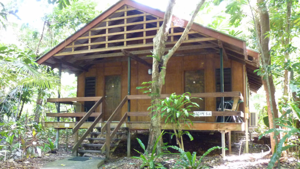   The Best Things to Do in Queensland Australia featured by top international travel blogger, Tracy's Travels in Time: a house at Cape Tribulation