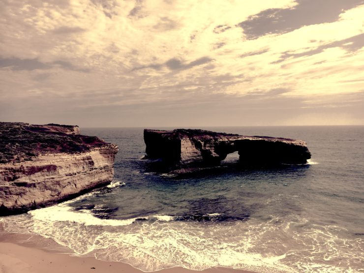 London Bridge one of the 12 Apostles on the Great Ocean Road in Victoria Australia