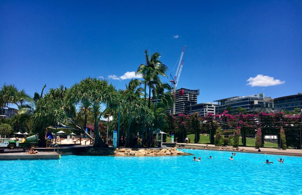 Brisbane's boat pool at South Bank | 20 Top Things to Do in South Bank Brisbane featured by top international travel blog, Tracy's Travels in Time