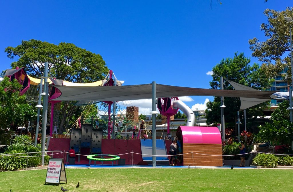 One of the many parks for children at South Bank Brisbane | 20 Top Things to Do in South Bank Brisbane featured by top international travel blog, Tracy's Travels in Time