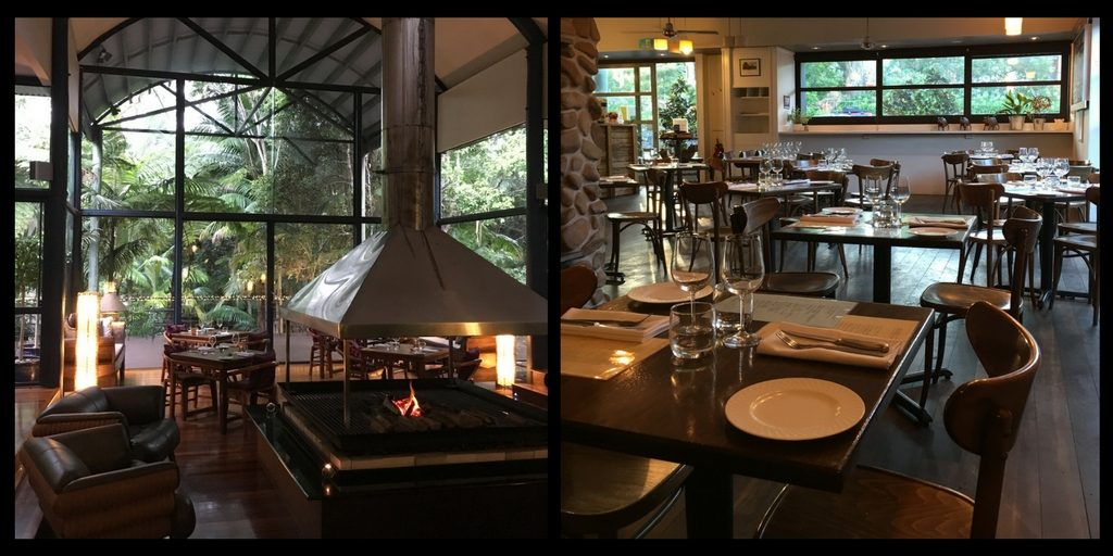restaurant at Pethers Rainforest Retreat Mt Tamborine| Tamborine mountain travel guide featured by top international travel blogger, Tracy's Travels in Time
