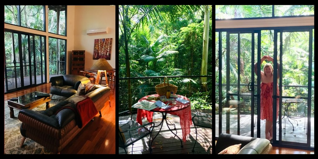 the room at pethers rainforest retreat on Tamborine mountain| Tamborine mountain travel guide featured by top international travel blogger, Tracy's Travels in Time