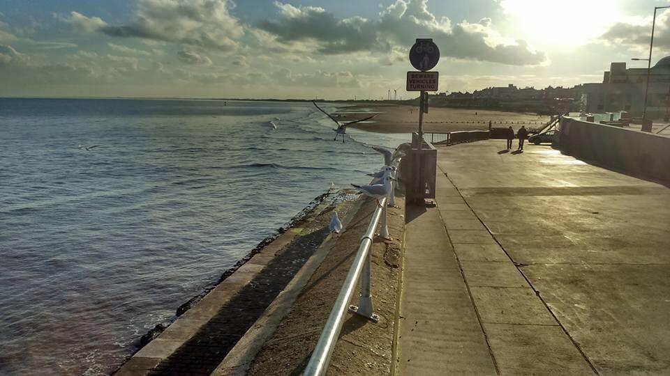 sea front in Bridlington
