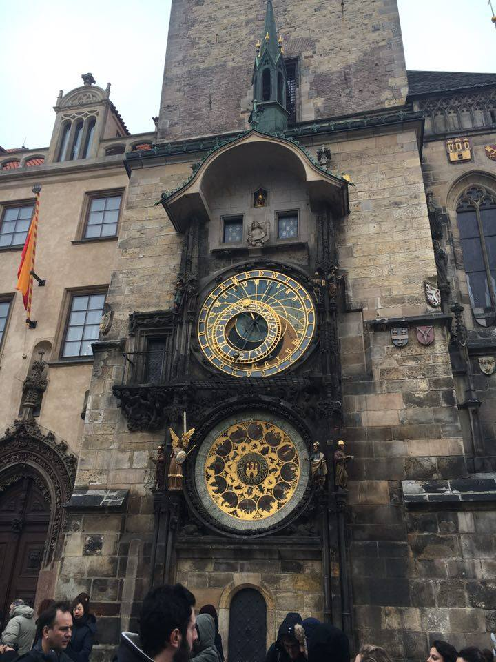 The famous astronomical clock in Prague