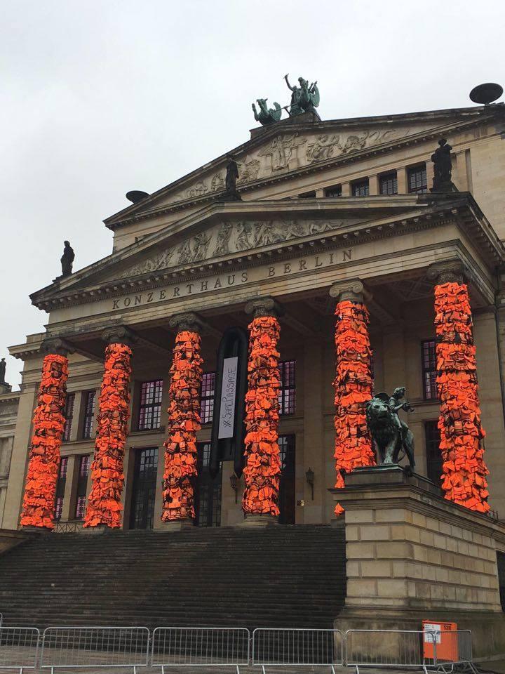 Ai WeiWei art installation in Berlin