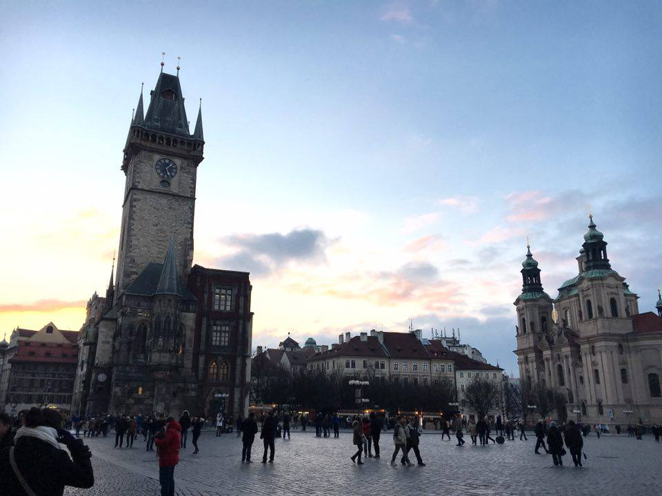 Things to do in Prague in winter include visiting the old town