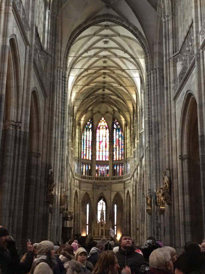 Prague inside St Vitus Cathedral