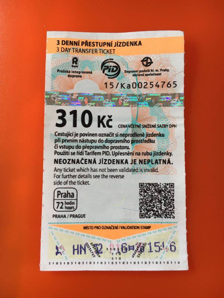 PRAGUE TRAIN ticket