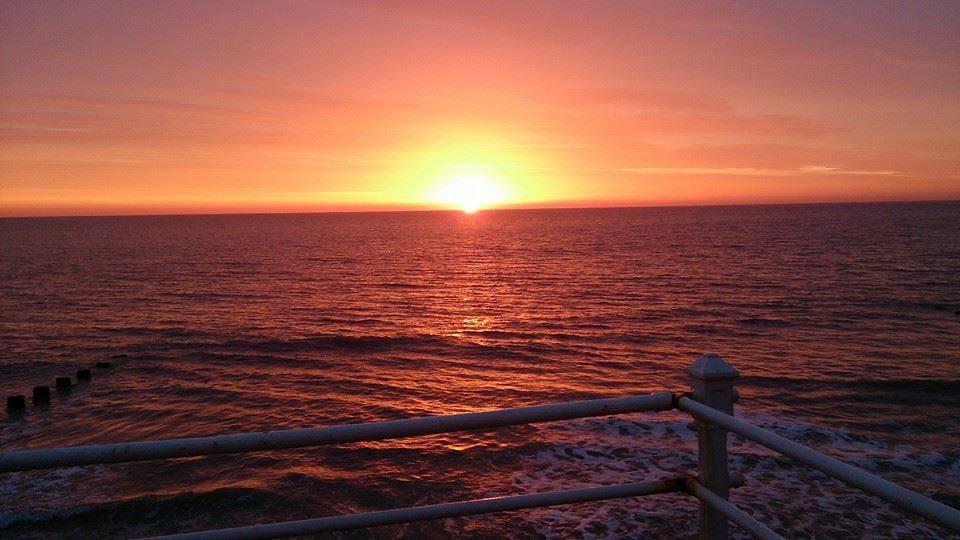 sunset IN BRIDLINGTON UK