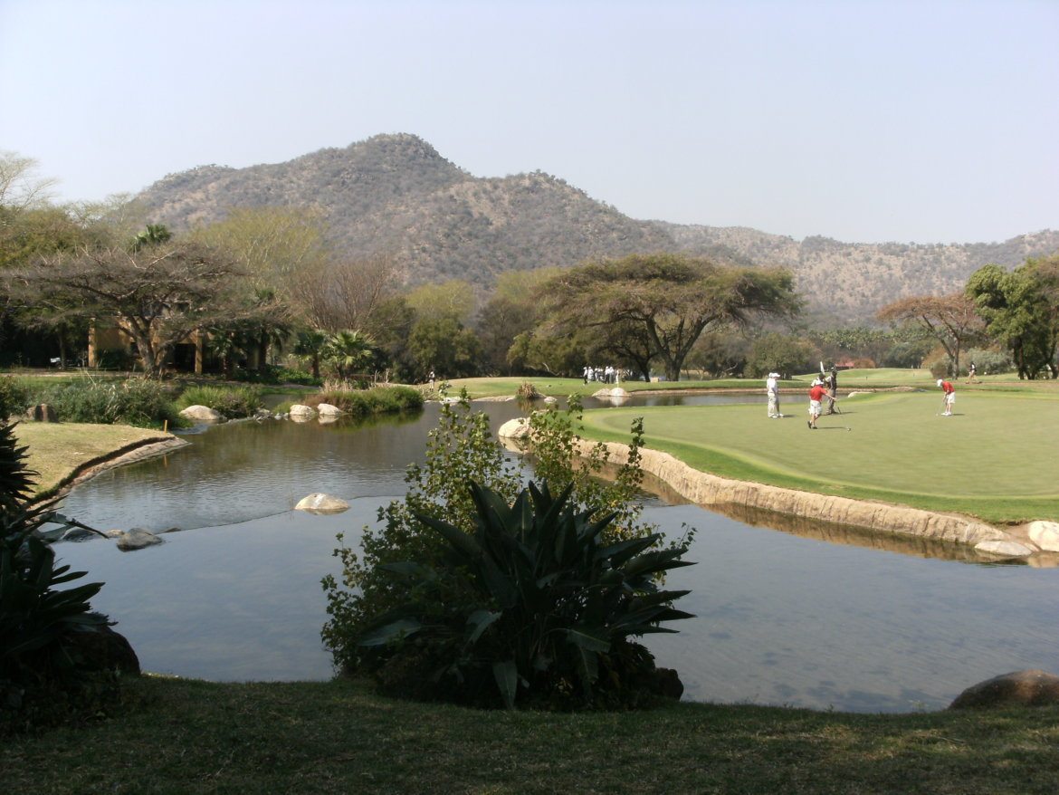 Playing golf at Sun City