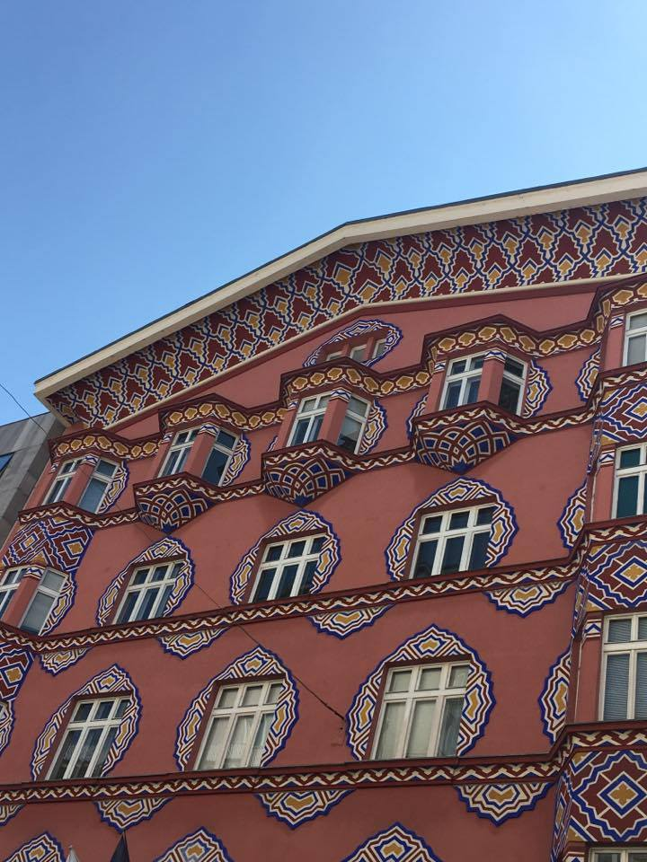 decorated building in Ljublana