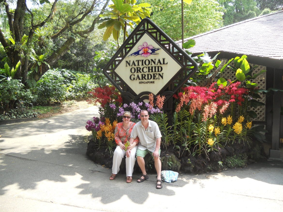 Singapore at the orchid garden - the liebster award