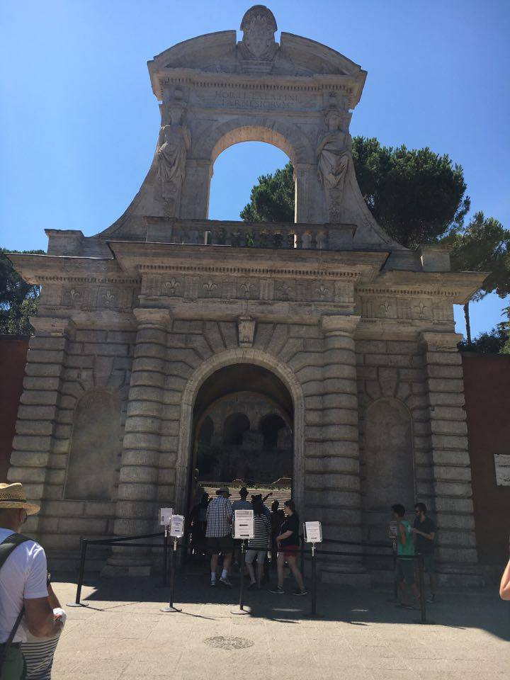 Entrance beside the Coliseum - ITINERARY FOR ROME
