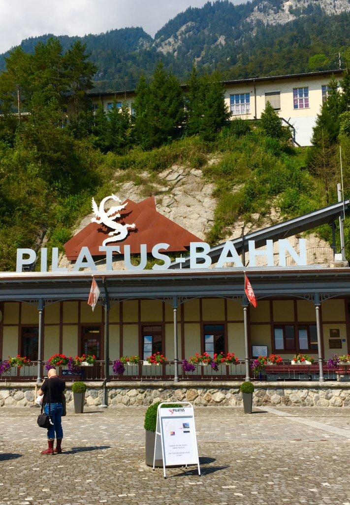 Pilatus station | Golden round trip to Mount Pilatus featured by top international travel blogger, Tracy's Travels in Time