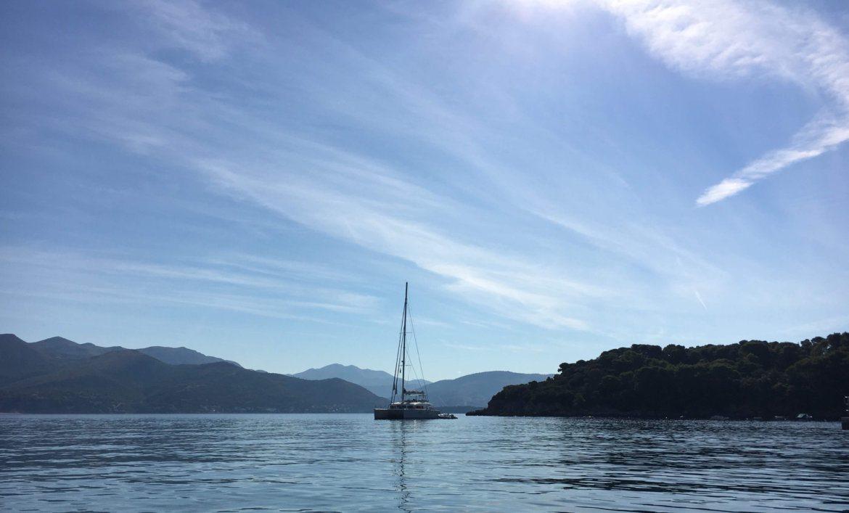 a boat in the seas off the ELAFITI ISLANDS
