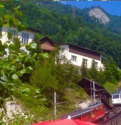 the cog railway Mt Pilatus