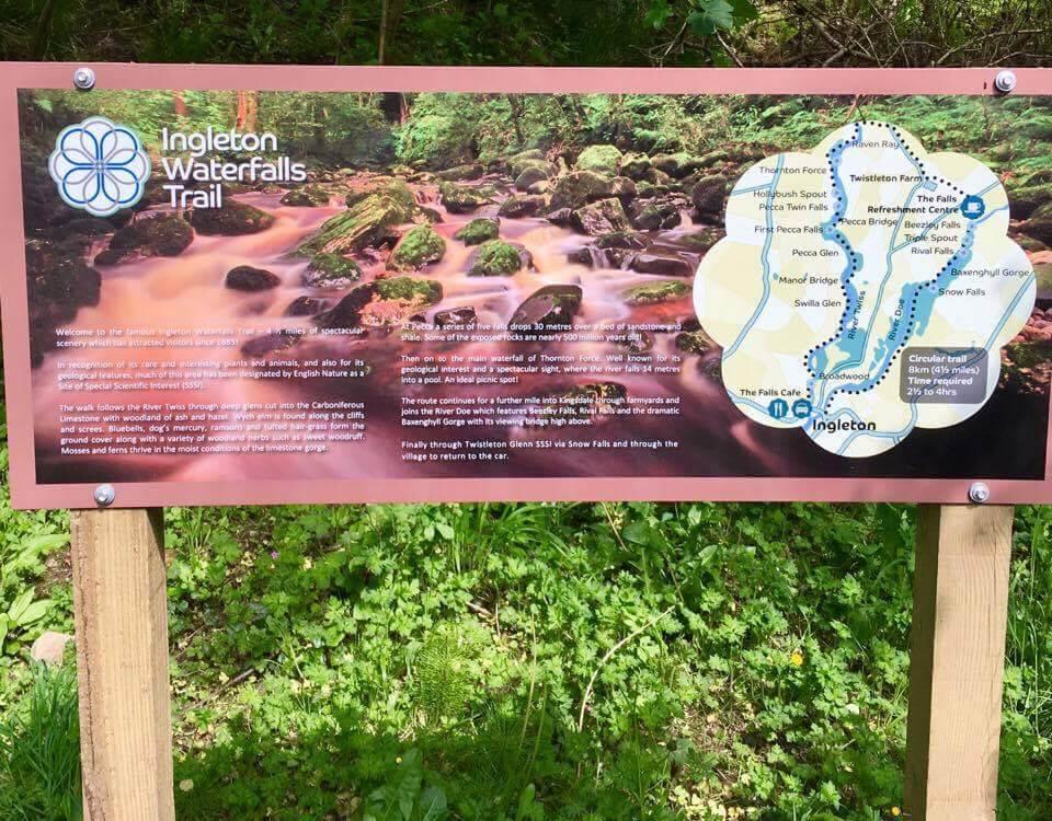 Ingleford - walking the Ingleton Waterfalls Trail