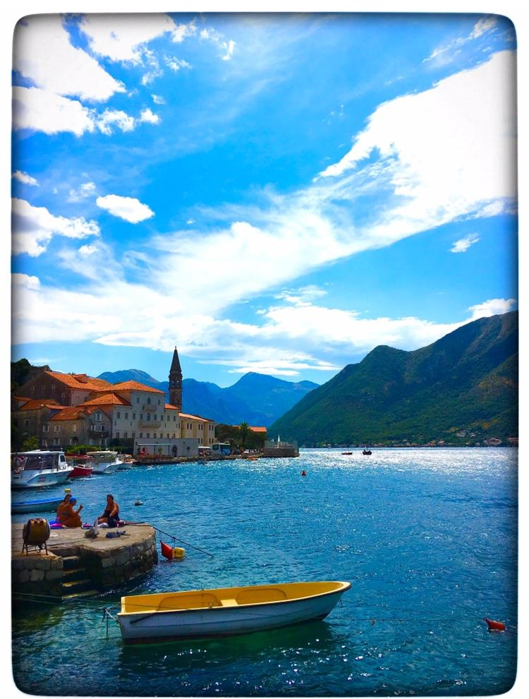 A VIEW OF KOTOR BAY IN MONTENEGRO