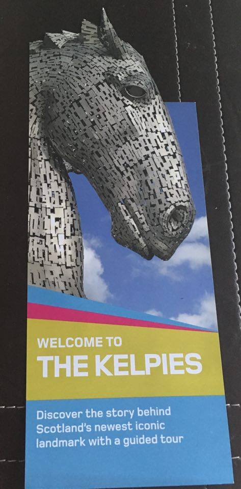 Leaflet about the Kelpies