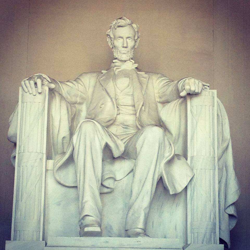 Lincoln Memorial statue in Washington DC
