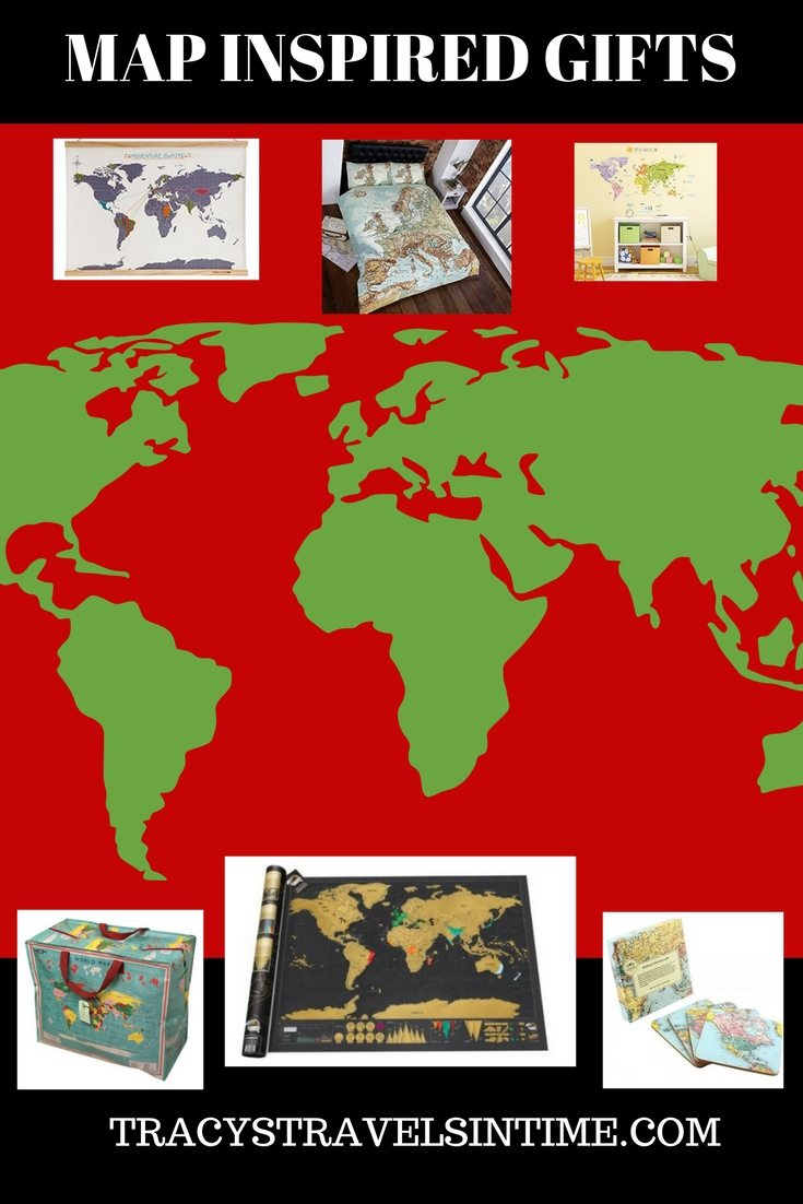 Top 20 Map Gifts featured by top international travel blogger, Tracy's Travels in Time