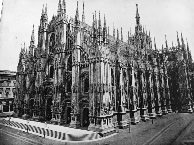 milan cathedral in 1800s