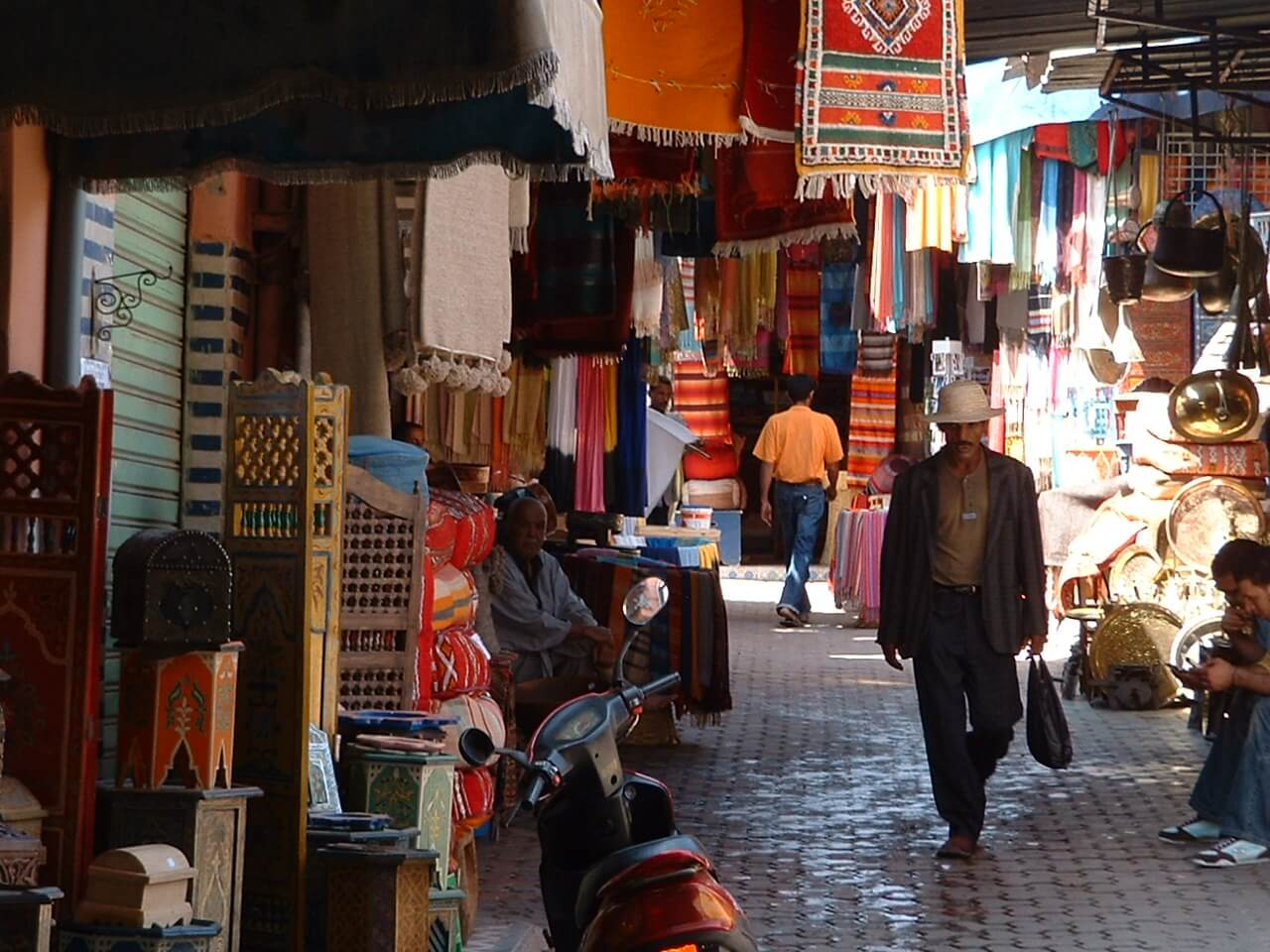 A market in Morocco