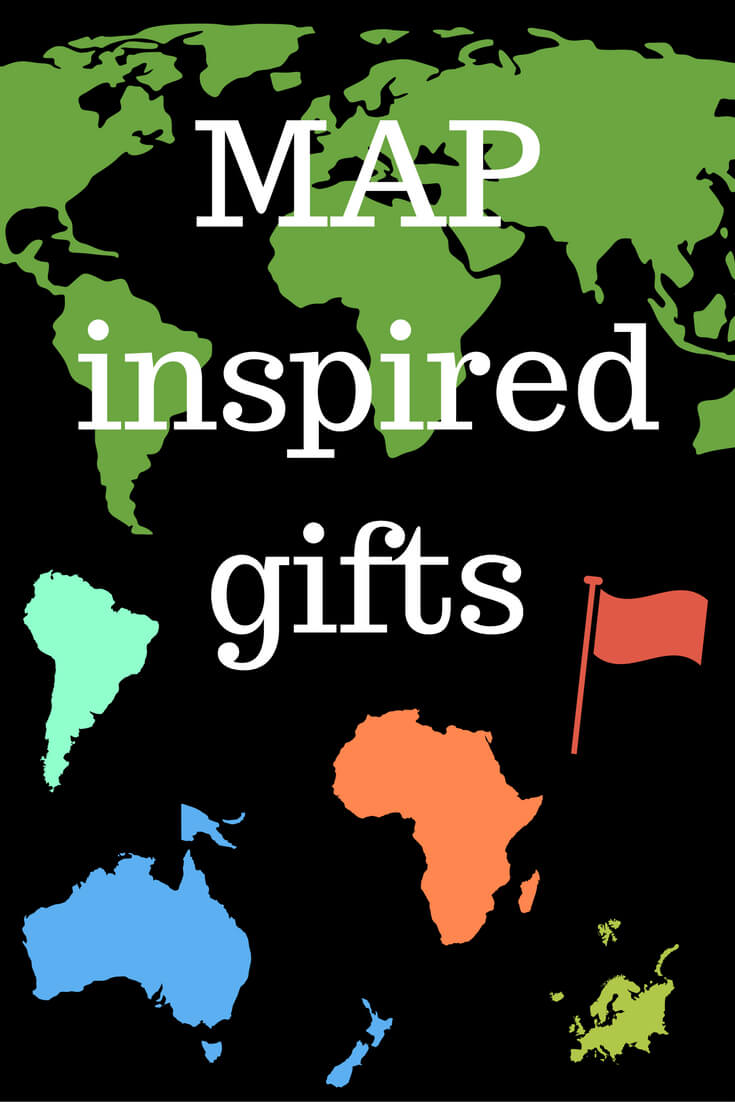Top 20 Map Gifts featured by top international travel blogger, Tracy's Travels in Time: