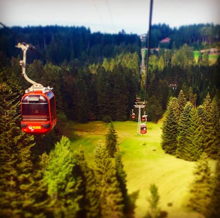 The gondola at Mt Pilatus