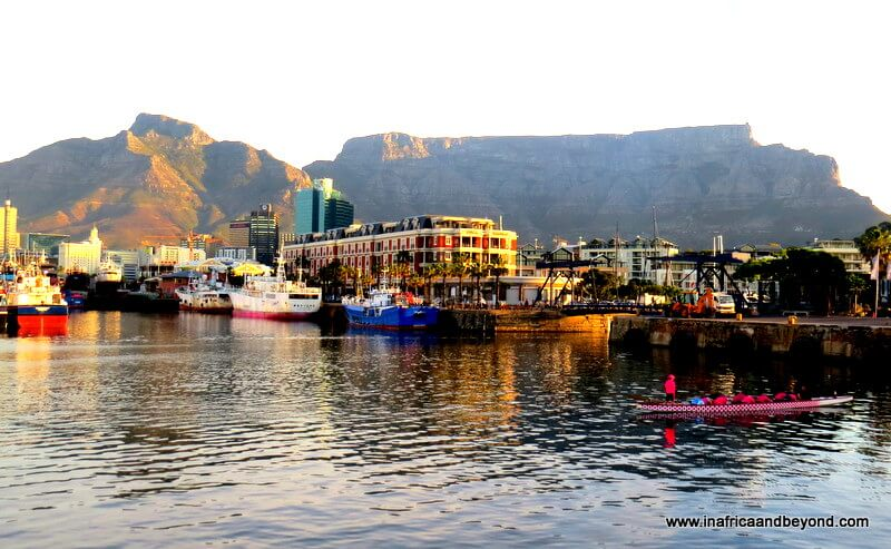 Cape Town waterfront with Table Mountain in the background