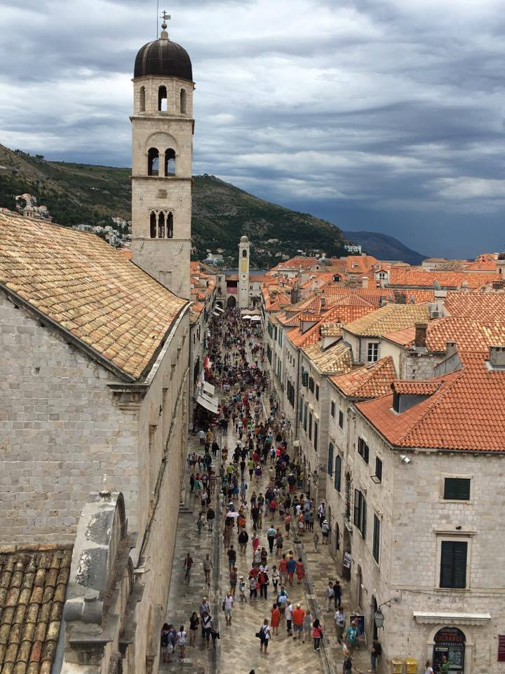 stradun-as-viewed-from-the-wallsBest things to do in Dubrovnik featured by international travel blog, Tracy's Travels in Time