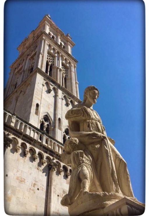 Trogir Church and statue