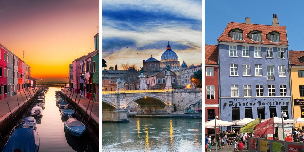 Best destinations in Europe - Venice Rome and Copenhagen