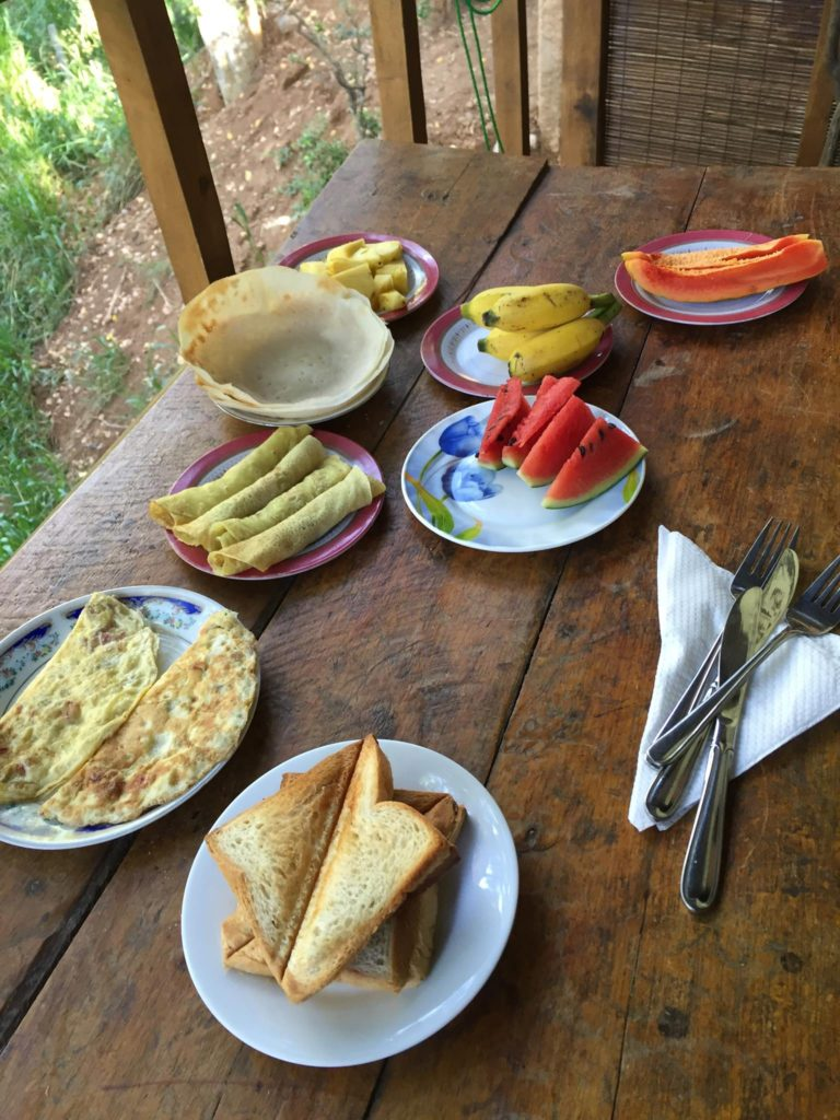breakfast at an airbnb sri lanka
