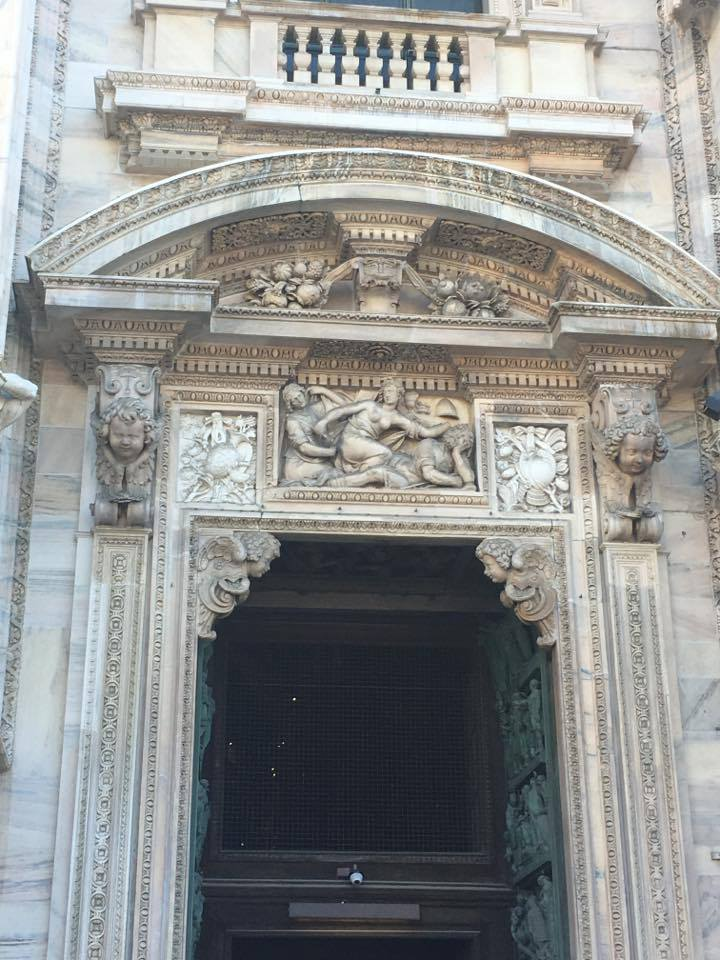 door of Milan cathedral