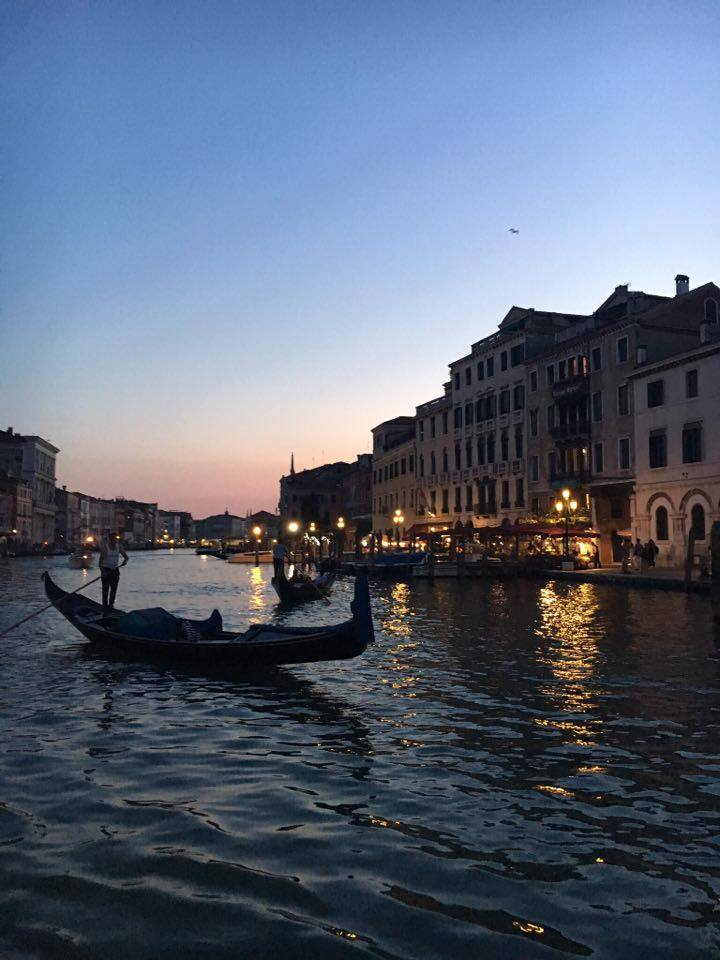 gondola sunset