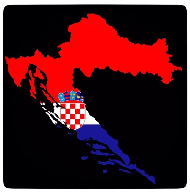 A MAP OF CROATIA