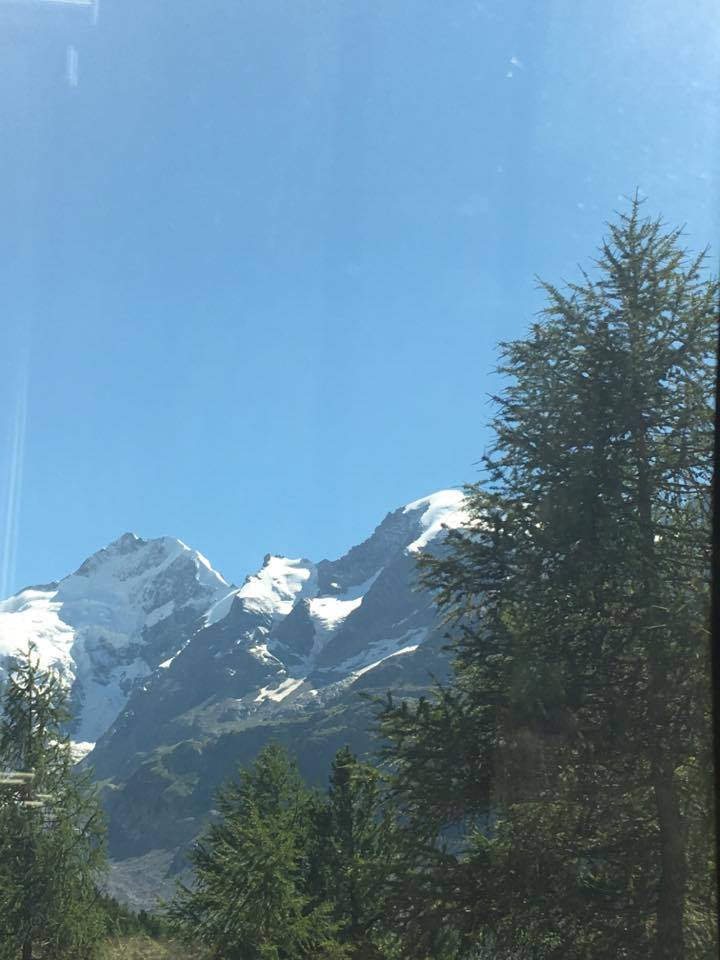 moutain-view from the bernina express