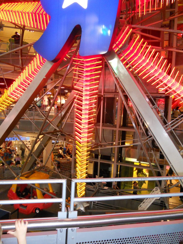 Ferris wheel in Time Square Toys R Us store