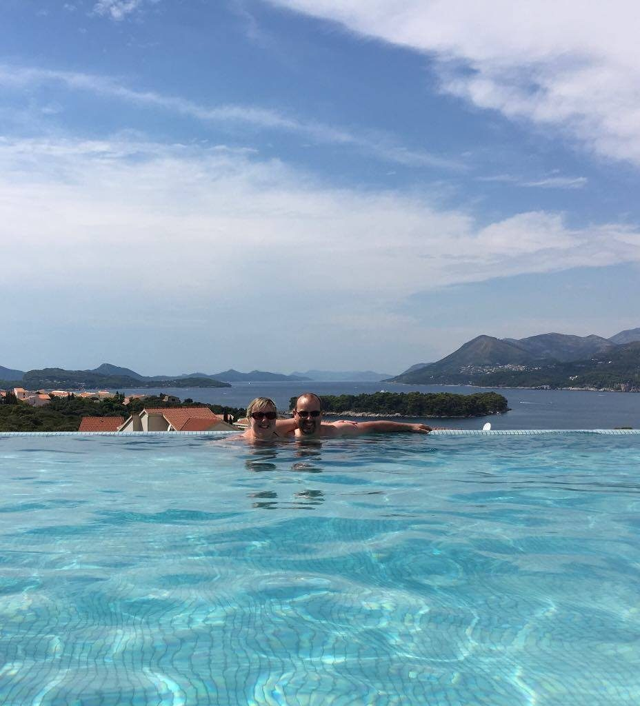 pool view from Babin KukBest things to do in Dubrovnik featured by international travel blog, Tracy's Travels in Time