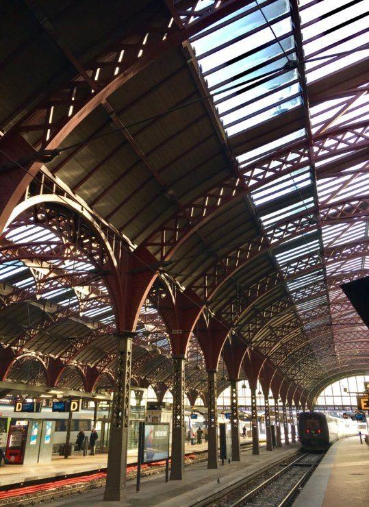 Visiting Aarhus - catching the train from Copenhagen