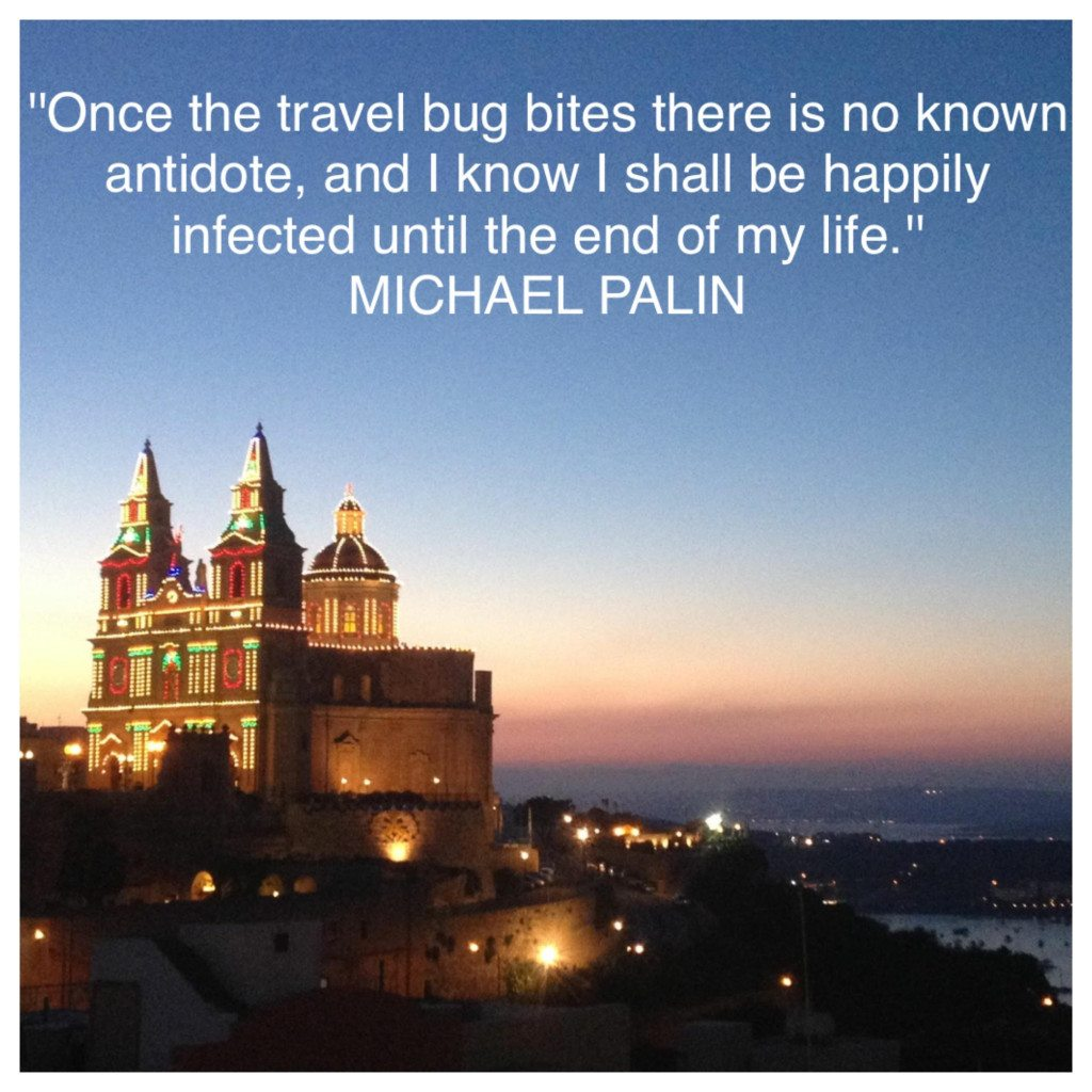 Michael Palin quote who is your travel inspiration featured by top international blogger, Tracy's Travels in Time