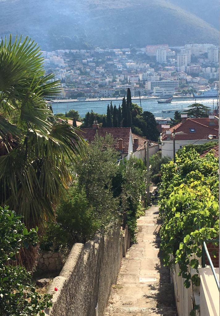 walk-down-to-harbour from our hotelBest things to do in Dubrovnik featured by international travel blog, Tracy's Travels in Time