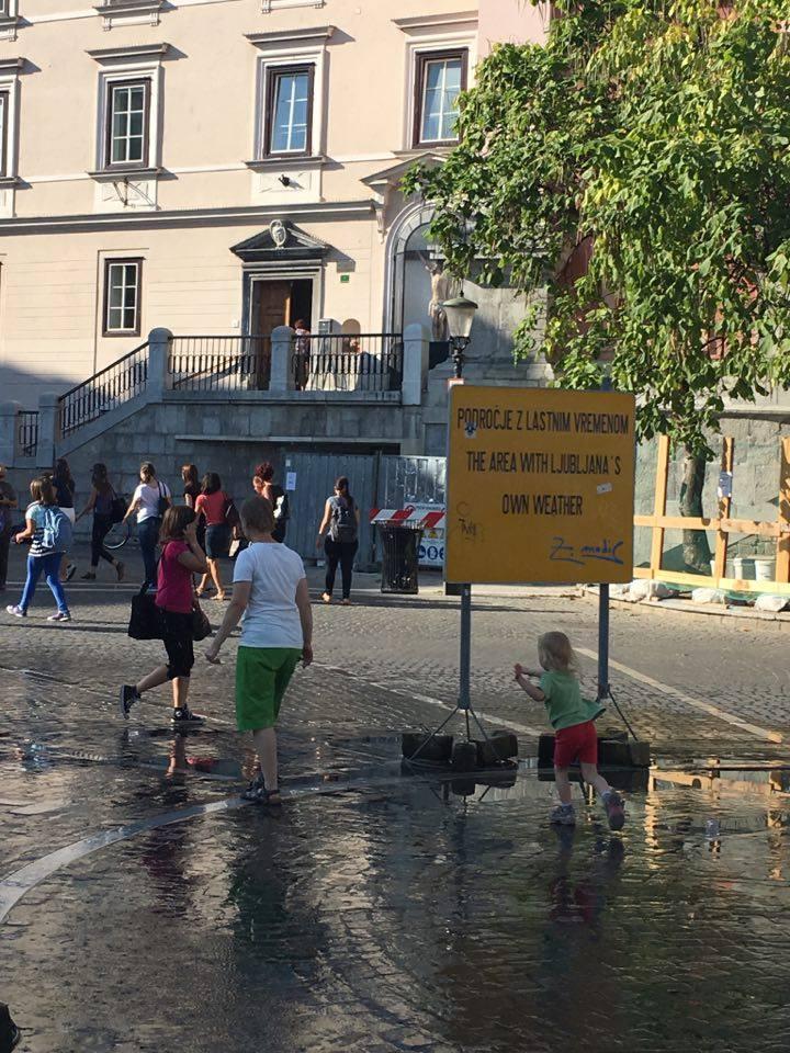 welcome-rain in Ljubljana
