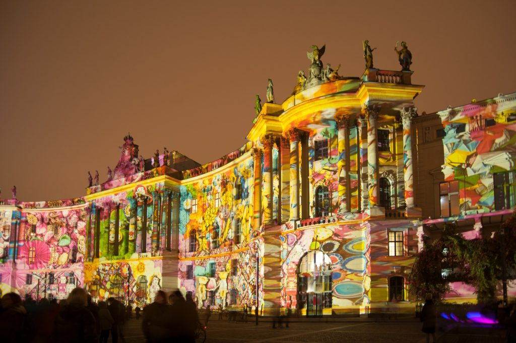 Berlin light show