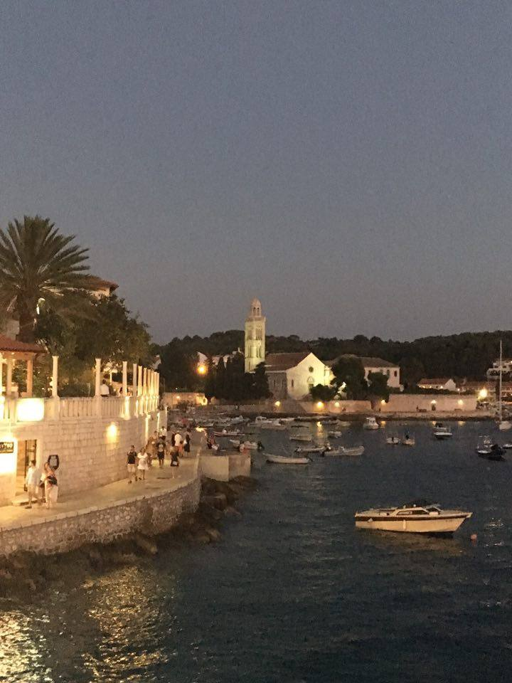 hvar harbour in croatia