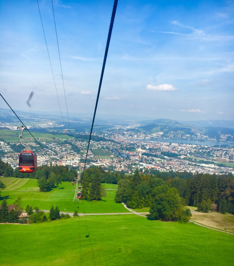 Descending towards Kriens | Golden round trip to Mount Pilatus featured by top international travel blogger, Tracy's Travels in Time