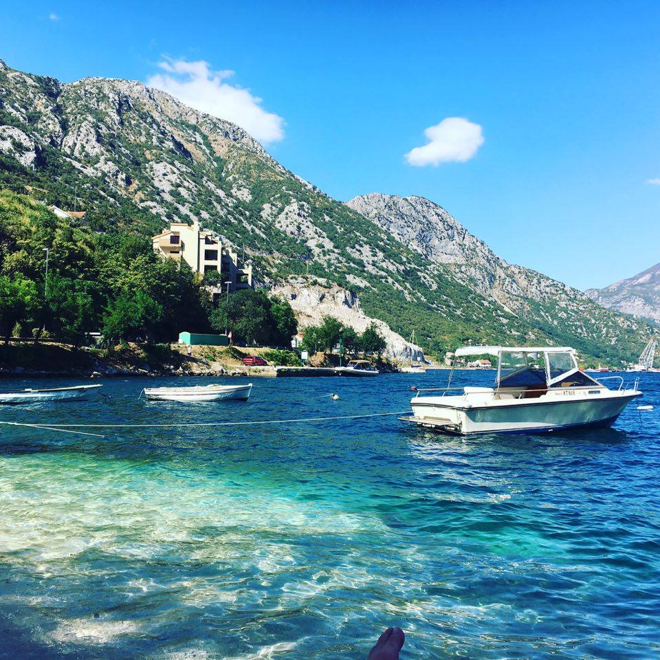 a view of kotor-bay in Montenegro