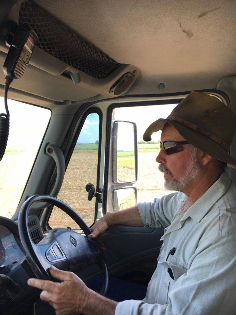 Peter in his van